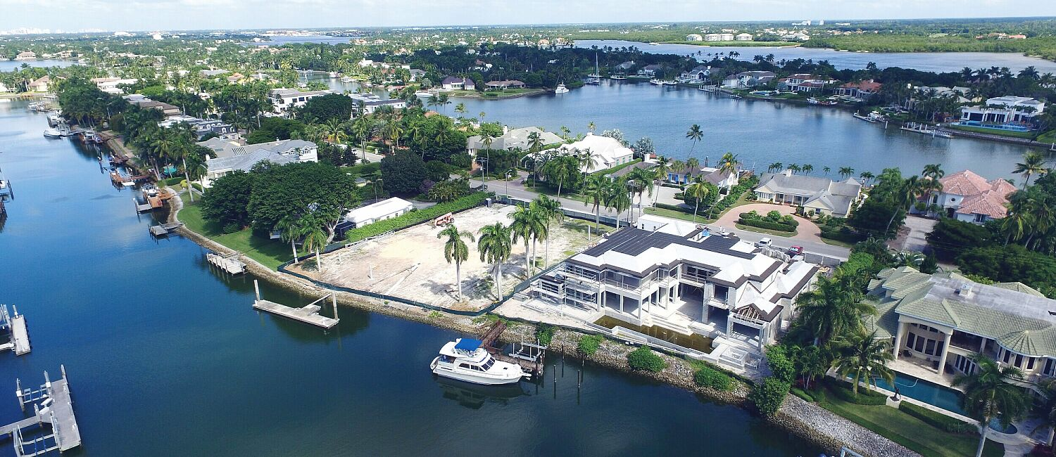 Port Royal, Naples Custom Homes from above